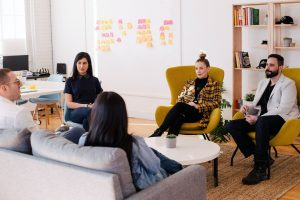 scrum master in an interview with her team